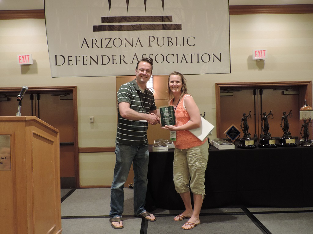 Outstanding Paraprofessional (Rural) - Mohave County Legal Investigator Elizabeth Krebs