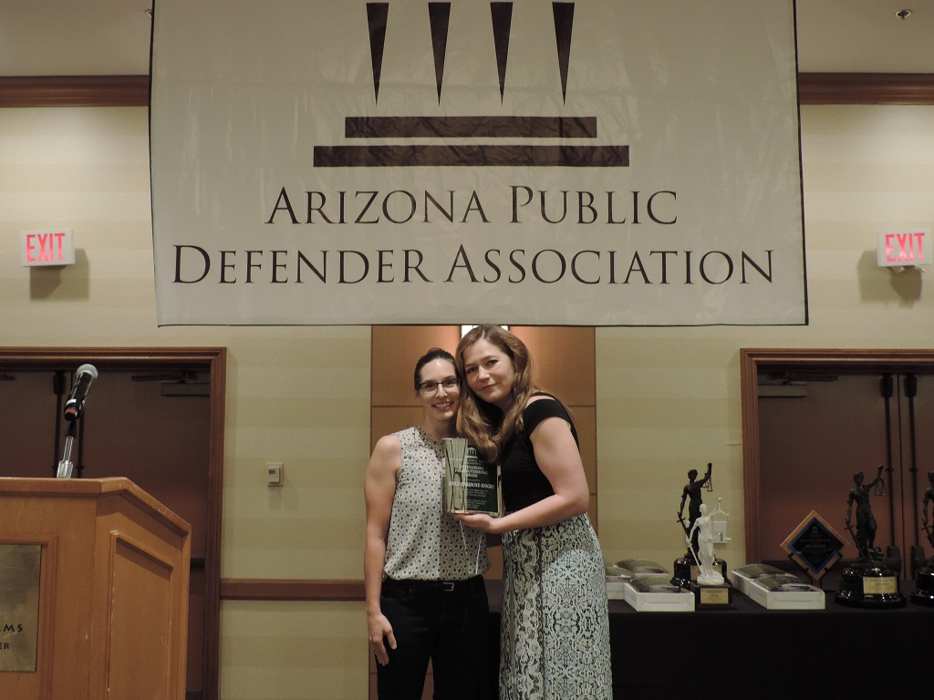 Outstanding Paraprofessional (Urban) - Paralegal Erica Marinone-Knight, Pima County Public Defender