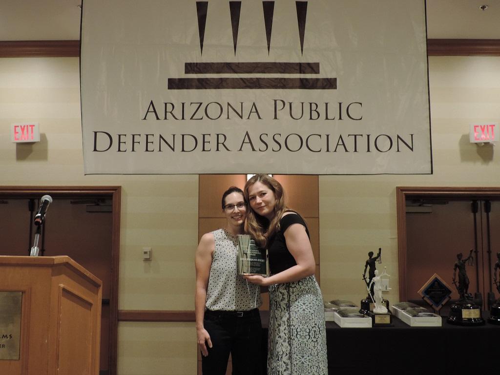 Outstanding Paraprofessional (Urban) - Paralegal Erica Marinone-Knight, Pima County Public Defender