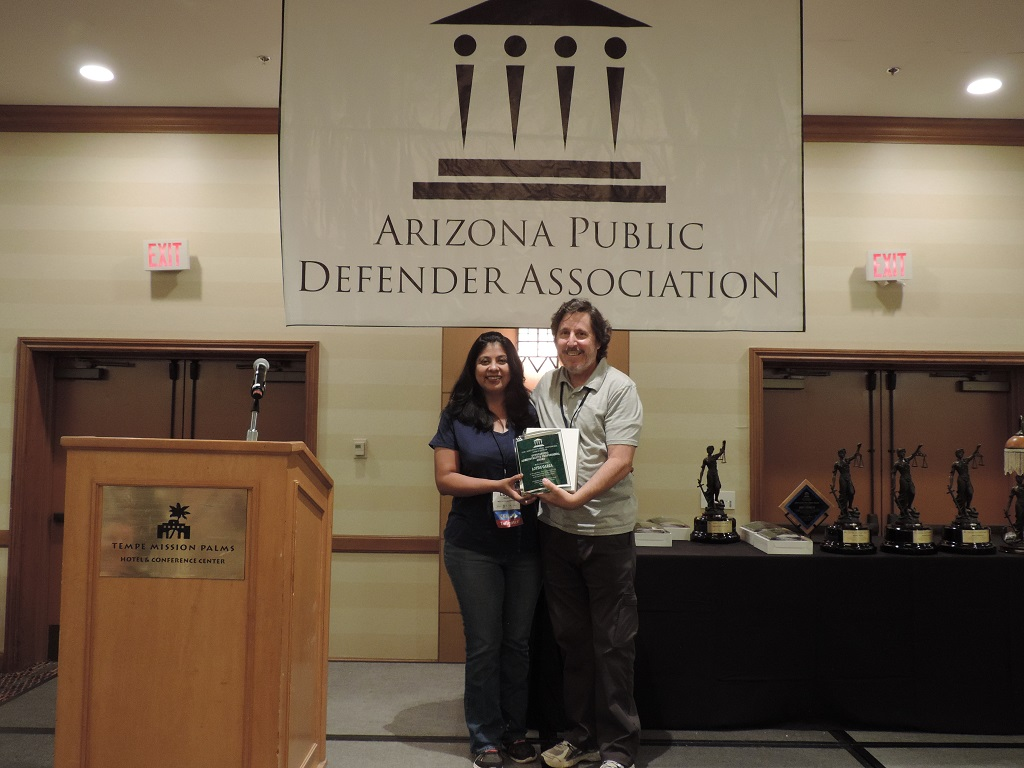 Outstanding Administrative Professional (Urban) - Client Services Assistant, Loyda Garza, Maricopa County Legal Defender