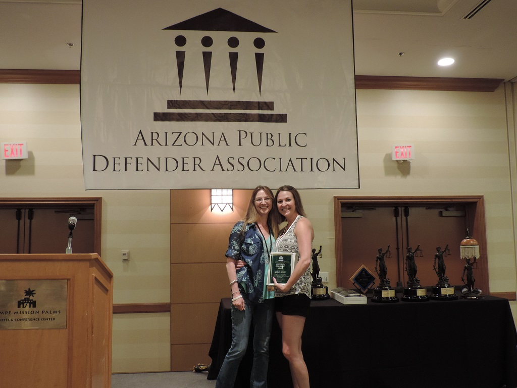 Outstanding Performance/Contribution - Office Manager Adrian Burke, Coconino County Public Defender