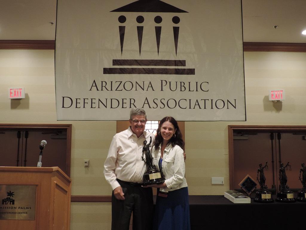 Robert J. Hooker Award - accepted by Larry Hammond, Esq, on behalf of Osborn Maledon, P.A.
